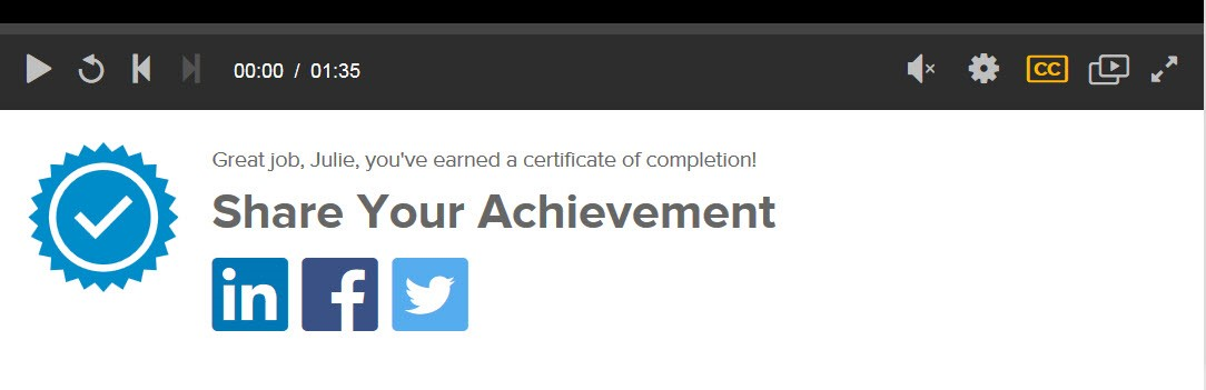 Patrons Can Share Lynda com Certificates of Completion on LinkedIn