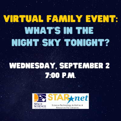 Virtual Family Event: Whats in the night sky tonight?